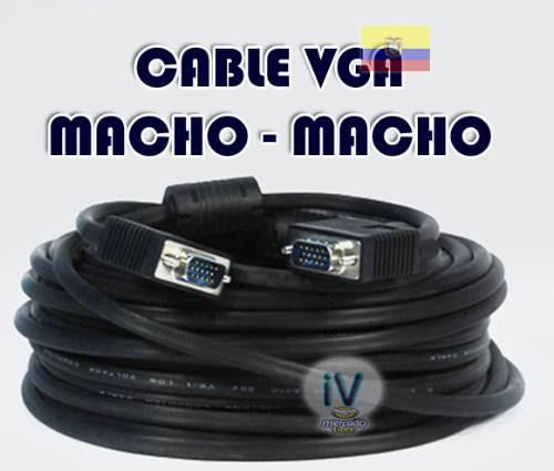 cable vga para proyector o monitor 20 metros blindado nuevo