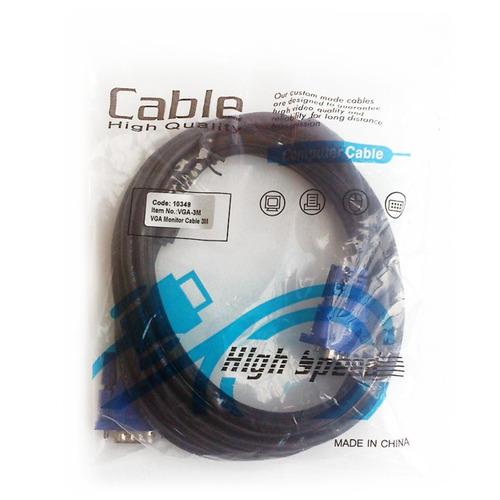 cable vga - video 3mt para monitor, videobeam y computador
