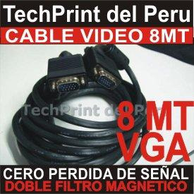 cable video vga 8 metros con filtros original doble malla