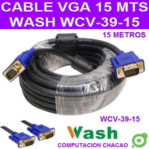 cable video vga macho 15 metros 15 pines monitor tv pc ccc