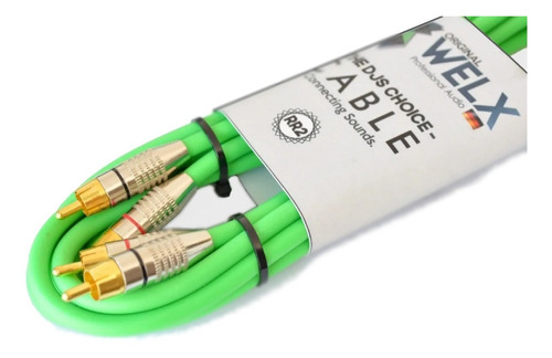 cable welx audio rr2 silver rca-rca stereo 2 metros palermo