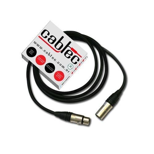 cable xlr canon 6 metros neutrik p/ microfono cabtec