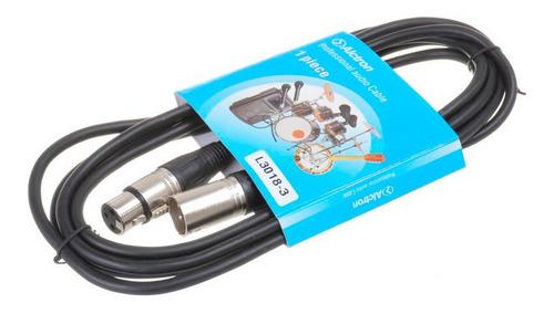 cable xlr canon alctron para microfono condenser cuotas