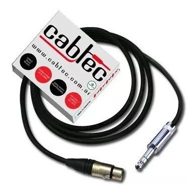 cable xlr canon hembra a plug stereo neutrik 6 metros cabtec
