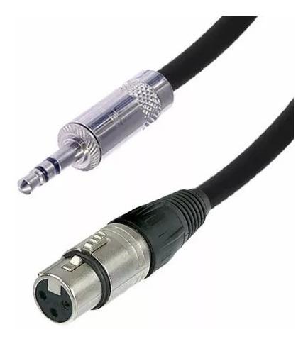 cable xlr canon hembra miniplug stereo neutrik 1m cabtec