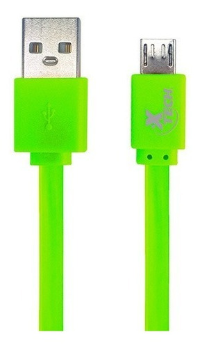 cable xtech micro usb 1 metro  on-the-go colores