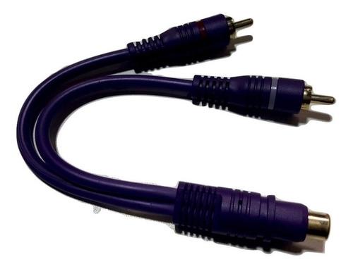cable y potencia auto ficha rca hembra a 2 rca macho canales