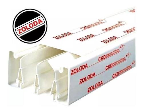 cablecanal 100x50 zoloda ckd-100-50-bl tira x2 mts