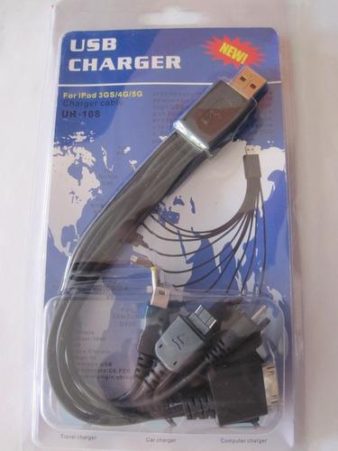 cables 10 en 1 + encende auto 12v/24v +usb 5v titan belgrano