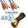 Cable Rca 5 Metros 6 Plugin Macho. Audio Video!!!