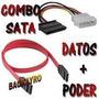 Combo Cable Sata Datos + Cable Sata Power Disco Duro
