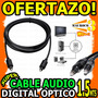 Wow Cable Optico Audio Digital 1.5m Woofer Home Theater Tv