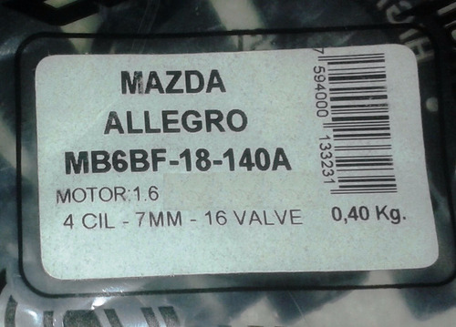 cables bujias mazda allegro-ford laser 1.6 año 2000+ 2cables