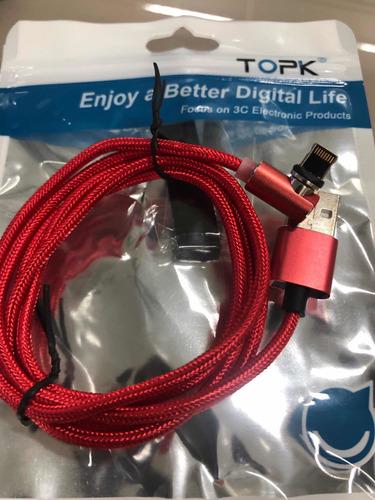 cables cargadores imantados para iphone, android y tipo c
