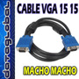 Cable Vga Monitor 20 Metros 15 15 Pines Macho