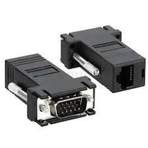 Adaptador Extension Vga A Rj-45 Cable Utp Cat5 Hasta 38mts
