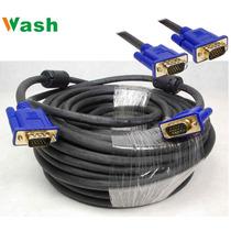 Cable Para Monitor Vga Vga M/m 20 Mts Pro Puntas Doradas
