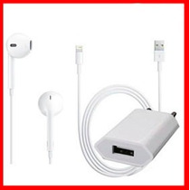 Audifono Earpods/cable Usb/cargador/mica Iphone 5 Ipod Touch
