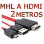 2m Cable Mhl Galaxy Samsung S3 S4 S5 Note 2 3 8 Hd Tv