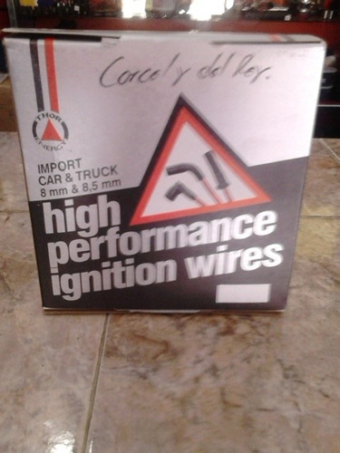 cables de bujia marca high performance, corcel y del rey.