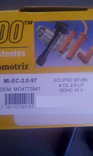 cables de bujia mitsubishi eclipse 2.0  97-99 doch prosp3000
