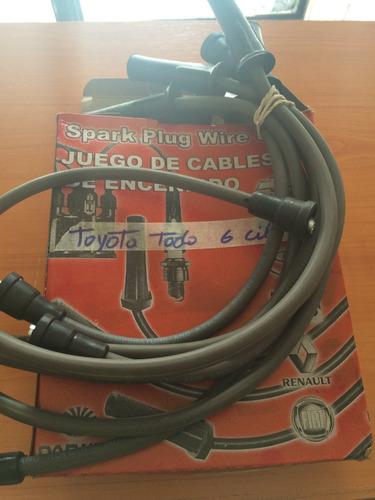 cables de bujía toyota todos 6cil