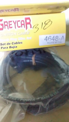 cables de bujias 8 cili. dodge motor 318 americano t/normal