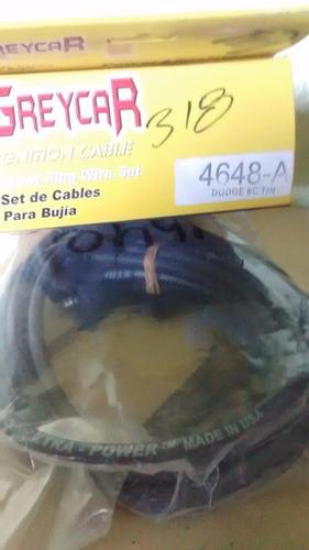 cables de bujias 8 cili. dodge motor 318 y 360 t/normal usa