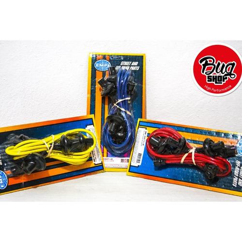 cables de bujias de 7mm empi color azul
