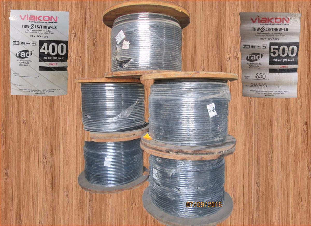 Cables de cobre cal 500 kcm mca viakon precio por for Cable para internet precio por metro