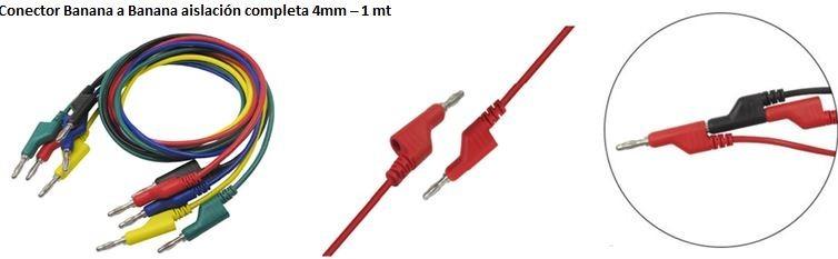 4 mm Aofan Cable de Prueba para Pruebas el/éctricas de Laboratorio 5 Unidades
