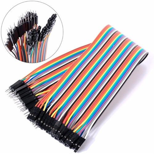 cables dupont jumpers arduino 20cm 40piezas