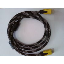 Cable Hdmi Doble Filtro Puntas Doradas 1.8 Mts