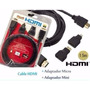 Cable Hdmi 1.5 Metros + Adaptador Micro Mini Hdmi 3d 4k
