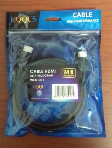 cables hdmi punta gold, 24k, 1,8mts  weq-001