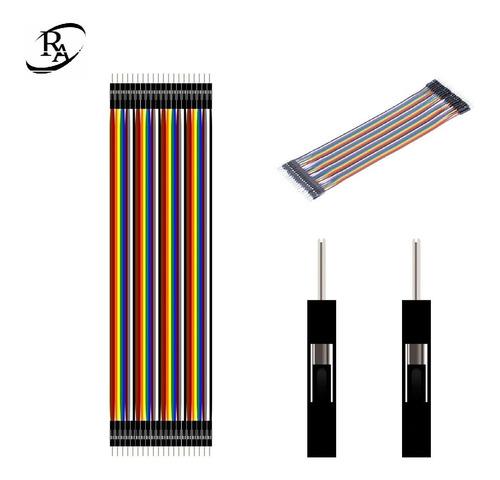 cables jumpers dupont 40 pzas (10 cm) proyectos arduino