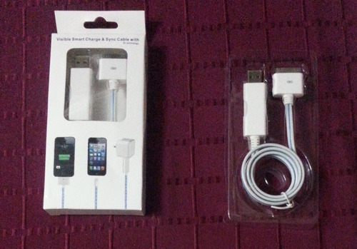 cables para iphone, ipad y ipod luminosos!!!