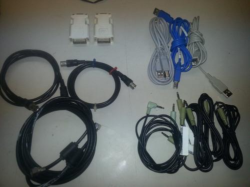 cables para pc coaxial miniplug sonido usb impresora dvi/vga
