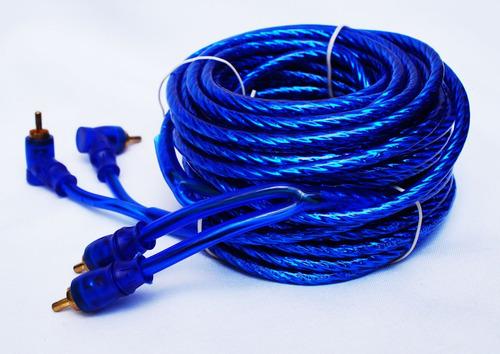 cables rca libres de oxigeno audiobahn 2 c por lado 6.10mts