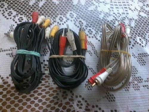 cables rca poco uso intactos