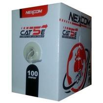 Bobina Cable Nexcom Utp Cat 5e 100 Mts