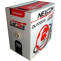 Cable Utp Cat 5e Para Intemperie (outdoor) Marca Nexcom