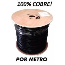 Cable Utp Cat5e Negro Intemperie Exterior Por Metro Elecon