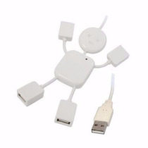 Port Hub 4en1 Cable Usb 2.0 Computadora Pc Laptop Impresora