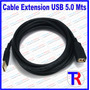 Cable Extension Usb Macho Hembra 5.0 Mts Con Filtro Oferta !
