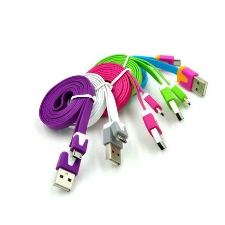 cables usb para telefonos samsung, huawe, plum, lg, blu, son