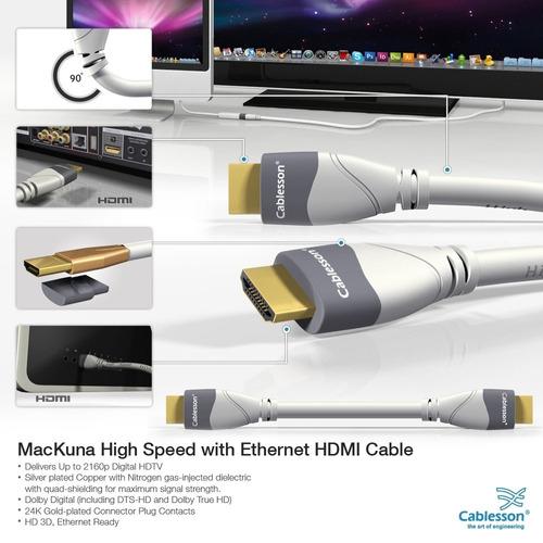 cablesson mackuna cable hdmi de alta velocidad de 5 pies a 2