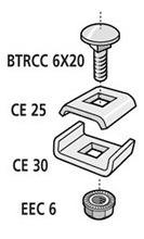cablofil faslockxlgs clip de unión p/armar curvas