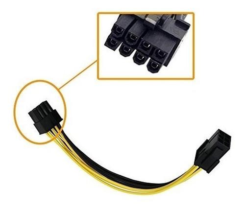 cabo adaptador conversor 6 p/ 8 pinos pcie  placa de vídeo