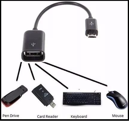 cabo adaptador micro usb otg pendrive para celular e tablet